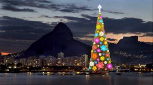 Sapin de Noël à Rio