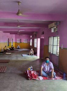 Centre de quarantaine en Inde