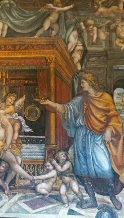 La première nuit de noces d'Alexandre le Grand avec Roxane (détail) Fresque peinte en 1518-1519 par le siennois Giovanni Antonio Bazzi